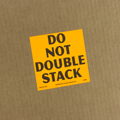 Do Not Double Stack/Break Pallet Labels - Die Cut