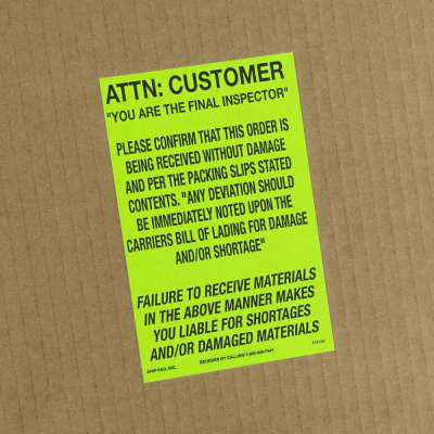 Miscellaneous Shipping Labels - Butt Cut